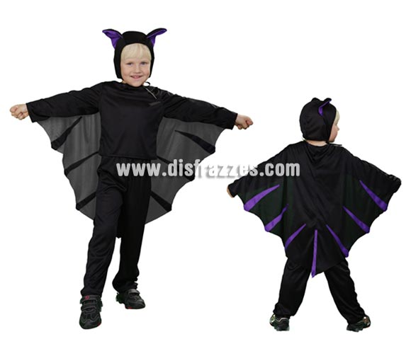 Disfraz de Murciélago para niños de 3 a 4 años para Halloween. Incluye disfraz completo.