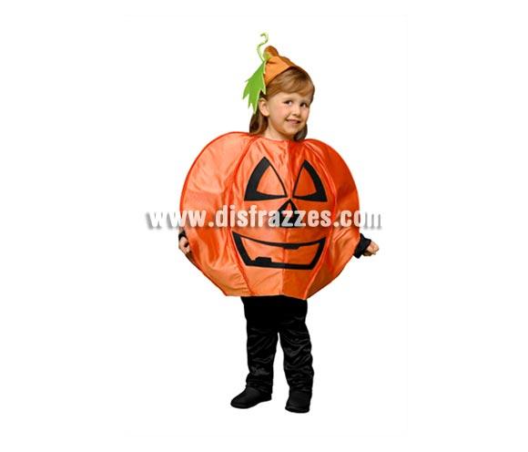 Disfraz de Calabaza para niños de 3 a 4 años para Halloween. Incluye vestido y gorro. Pantalón NO incluido.