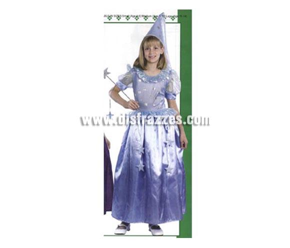 Disfraz de Hada para niñas de 7-9 años. Incluye vestido y gorro. Varita NO incluida, podrás encontrar varitas en la sección de Complementos.