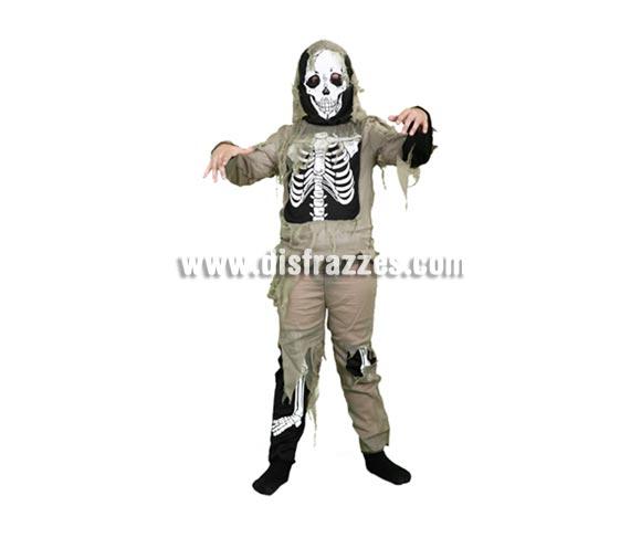 Disfraz de Esqueleto para niños de 5 a 6 años. Perfecto para Halloween.