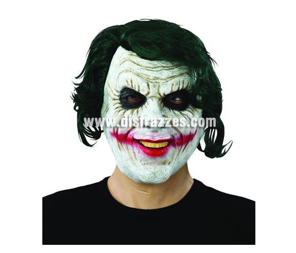 Máscara de Jocker latex con pelo para Halloween.