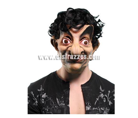 Máscara de Mr. Bean loco con pelo para Halloween.
