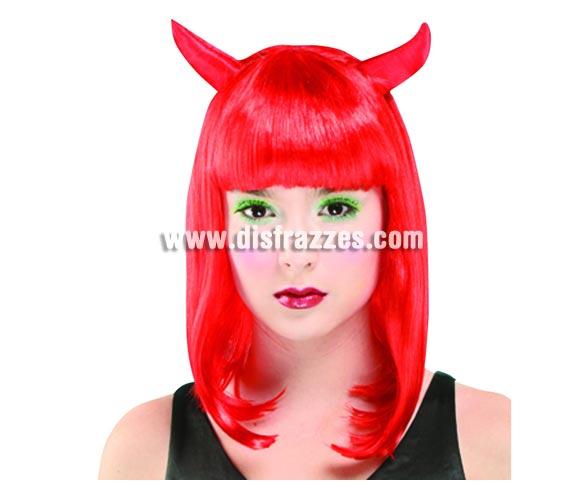 Peluca roja de Diablesa o Demonia para Halloween.