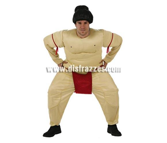 Disfraz de Luchador de Sumo para hombre. Talla Standar M-L = 52/54. Incluye mono. Peluca NO incluida, podrás encontrar en nuestra sección de Complementos.