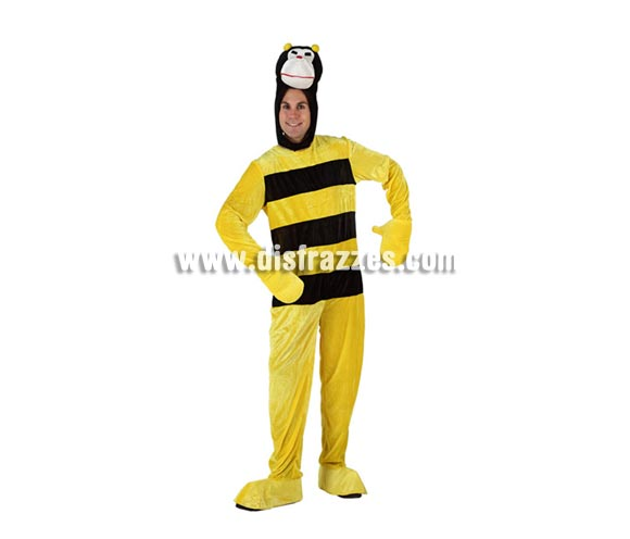 Disfraz de Abeja o Abejorro para hombre. Talla Standar M-L = 52/54. Incluye mono y gorro.