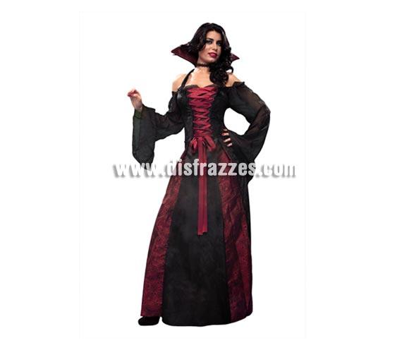 Disfraz de Vampiresa elegante para mujer. Talla Standar M-L 38/42. Incluye vestido y collarín.