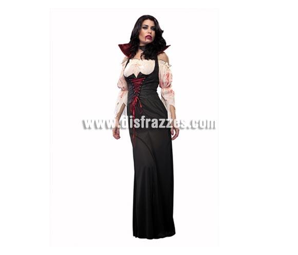 Disfraz de Condesa Sanguinaria para mujer. Talla Standar = 38/42. Incluye camisa, chaleco, falda y gargantilla.