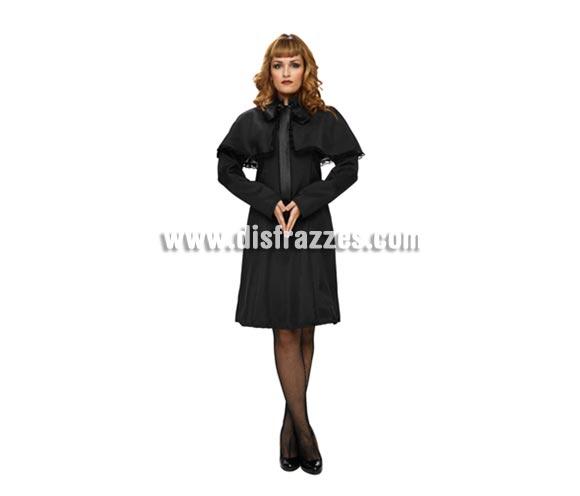 Disfraz de Joven Viuda para mujer. Talla Standar M-L = 38/42. Incluye vestido y capelina.