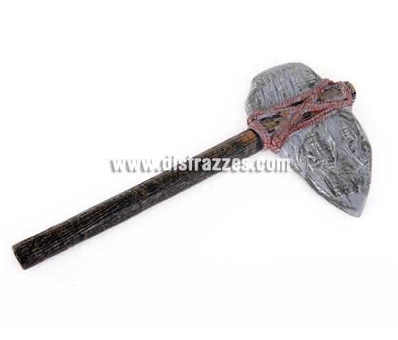 Hacha de piedra, 53 cm. Ideal para Halloween y como complemento de tu disfraz de Troglodita o Cavernícola.