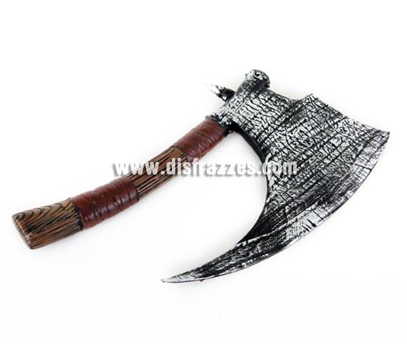 Hacha Arcaica de 48 cm. Prefecta para Halloween y como complemento de tu disfraz de Vikingo o Bárbaro.