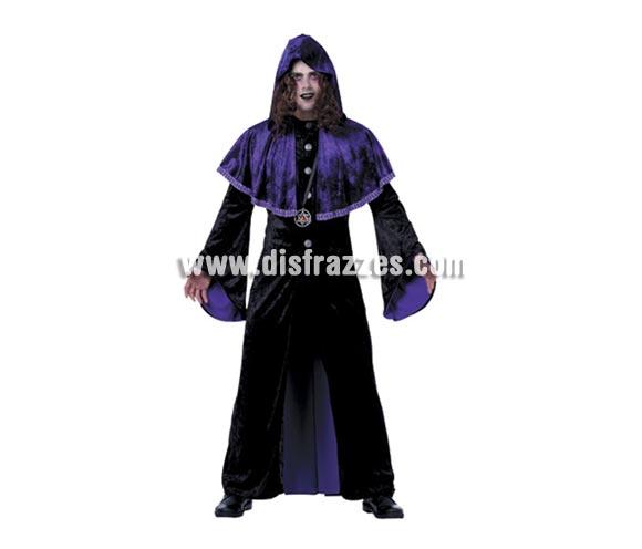 Disfraz de Vampiro Púrpura para hombre. Talla Standar M-L 52/54. Incluye traje. Disfraz de Drácula perfecto para Halloween.