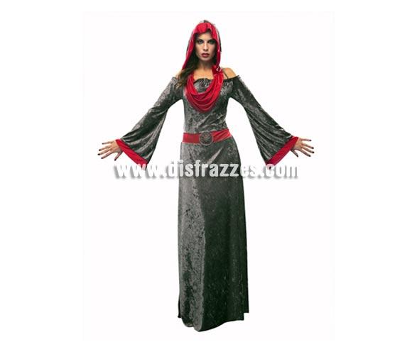 Disfraz de Lady Muerte para mujer. Talla Standar M-L = 38/42. Incluye vestido con capucha. Disfraz muy, muy elegante para Halloween.