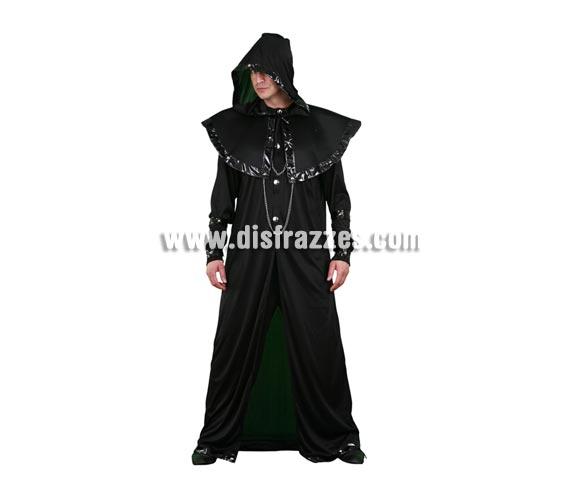 Disfraz de Dr. Muerte para hombre. Talla Standar M-L 52/54. Incluye túnica con capucha y brazaletes.
