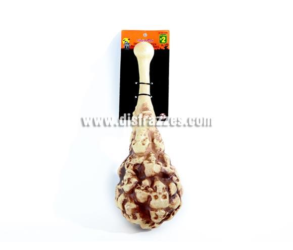 Mazo de plástico con esqueletos para Halloween o como complemento de tu disfraz de Troglodita o Cavernícola.
