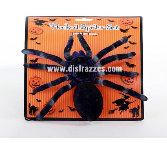Araña grande de 15cm para decoración de Halloween