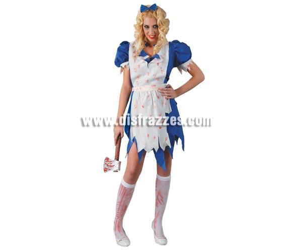 Disfraz de Alicia Maligna para mujer. Talla Standar hasta la 42/44. Incluye lazo, vestido y cinturón.