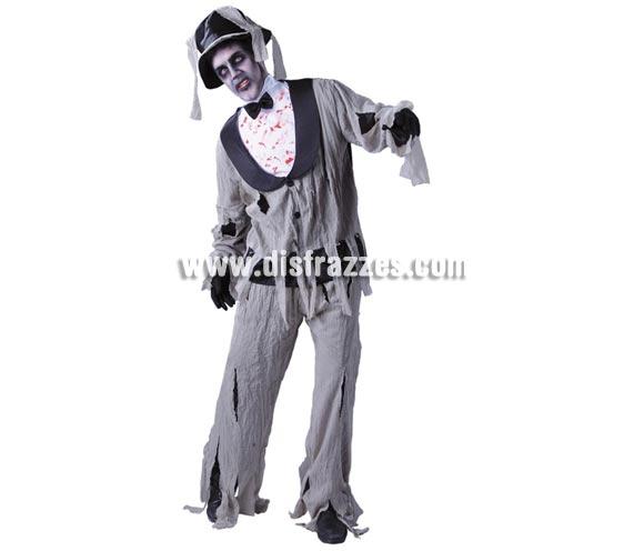 Disfraz de Novio Cadáver para hombre. Talla Standar 52/54. Incluye gorro, camisa, chaqueta y pantalón.