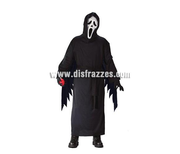 Disfraz barato de Scream para niños de 7 a 9 años. Incluye túnica con capucha. Careta NO incluida, podrás verla en la sección de Máscaras y Caretas.