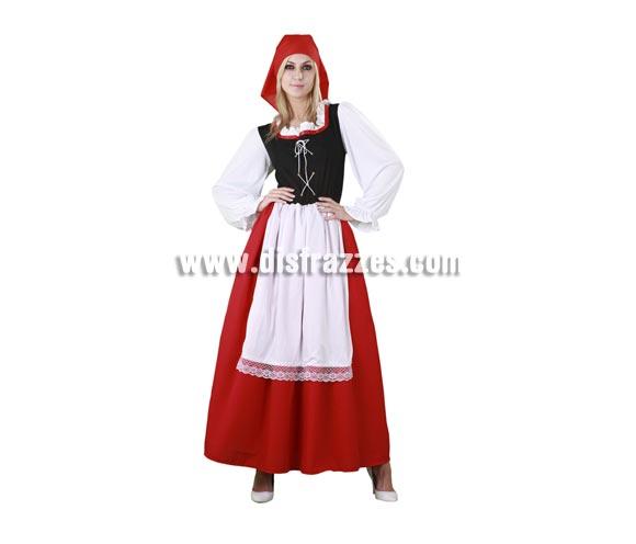 Disfraz de Aldeana para mujer. Talla Standar M-L = 38/42. Incluye vestido con delantal y pañuelo. También podría ser un disfraz de Campesina Medieval.