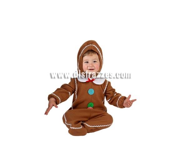 Disfraz de Galleta para bebés de 6 a 12 meses. Incluye mono y gorro. El mono es un pelele, no es como en la imagen, se ven los pies del niño.