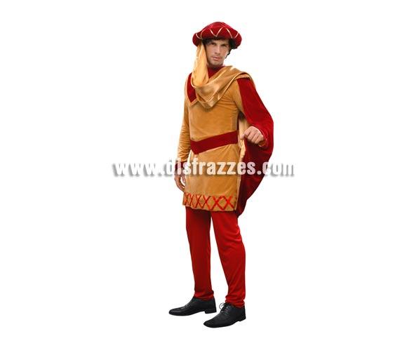 Disfraz de Duque para hombre. Talla Standar M-L = 52/54. Incluye abrigo, pantalón, sombrero, capa y cinturón. Un bonito y original disfraz Medieval perfecto para Fiestas y Ferias Medievales, para no ir con el típico disfraz que va toto el Mundo.