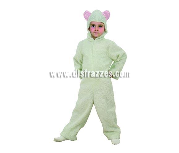 Disfraz de Ovejita blanca para niños de 5 a 6 años. Incluye mono con capucha.