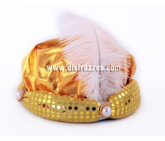 Sombrero de Príncipe Sudan o Paje Real. Talla Universal adultos. Perfecto como Turbante de Paje Real de los Reyes Magos en Navidad.