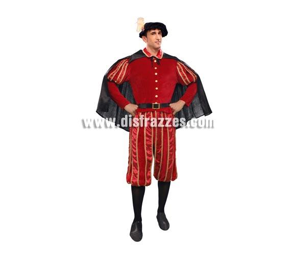 Disfraz de Don Juan Tenorio para hombre. Talla Standar M-L =l 52/54. Incluye chaqueta, pantalón, sombrero, cinturón y capa. Precioso y original disfraz tanto para Ferias y Fiestas Medievales, como para Teatros.