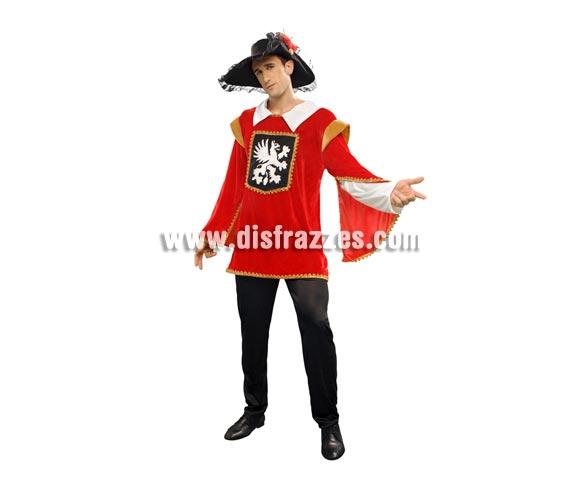 Disfraz de Dartañan para hombre. Talla standar M-L = 52/54. Incluye chaqueta, pantalón y sombrero.