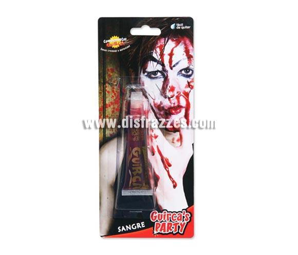 Sangre líquida especial para maquillarse en Halloween. Fácil de quitar.