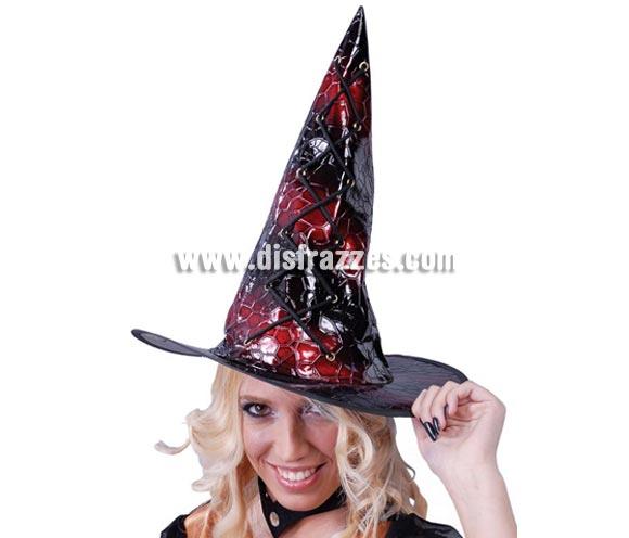 Sombrero de Bruja Piel para Halloween.
