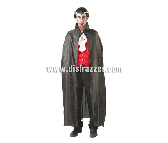 Capa Vampiro de Tela negra de 135 cm. de larga.