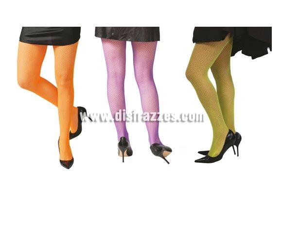 Pantys de malla pequeña para mujer. Tres colores surtidos, precio por unidad, se venden por separado. Talla universal de mujer adulta.
