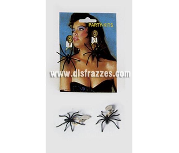 Par de Pendientes de araña o tarántula para Halloween.