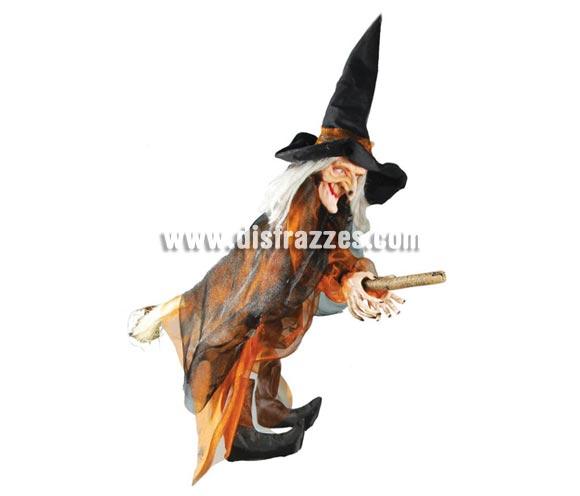 Colgante Bruja de 100 cm para decoración de Halloween.