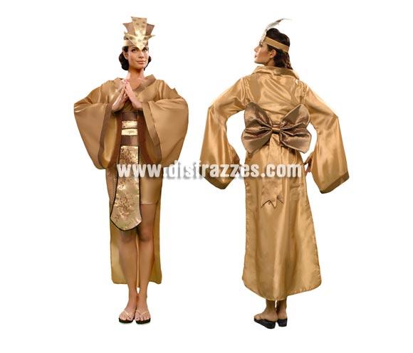 Disfraz de Emperatriz China para mujer. Talla standar M-L = 38/42. Incluye túnica, cinturón con lazo, tocado y cordón.
