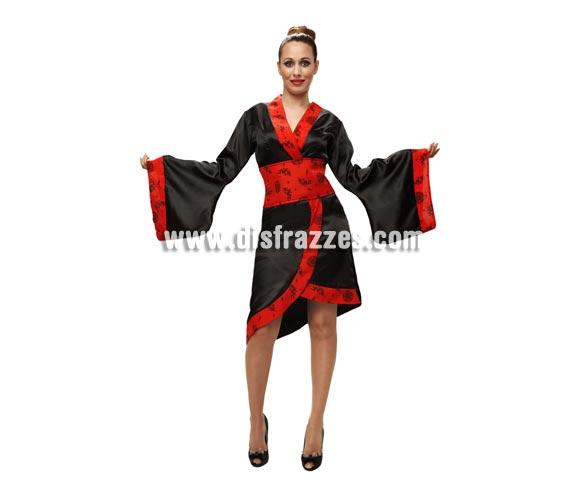Disfraz de Japonesa o Gheisa para mujer. Talla standar M-L = 38/42. Incluye vestido y cinturón.