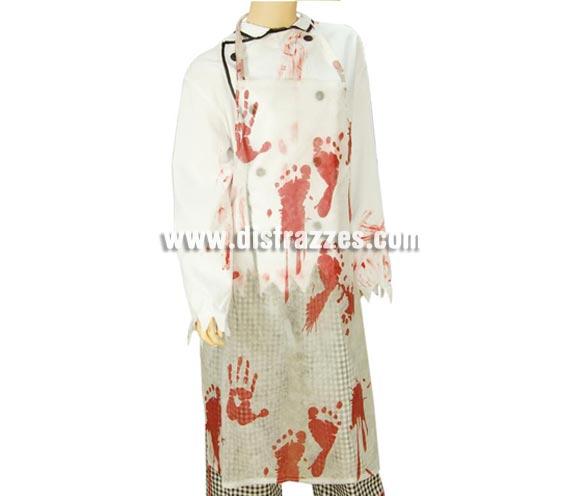 Delantal con manchas de sangre para Halloween.