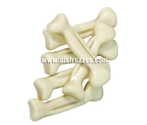 Bolsa de 6 huesos de 13 cm. para Halloween. También sirve como complemento de tu disfraz de Troglodita o Cavernícola.