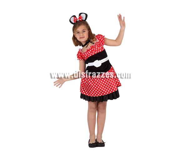 Disfraz de Ratoncita para niñas de 5 a 6 años. Incluye vestido y diadema.