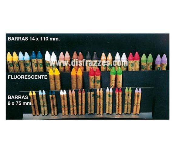 Barra maquillaje Amarillo 14x100 mm. Maquillaje ideal para caracterizarte en Carnaval, en Halloween o en cualquier fecha del año.