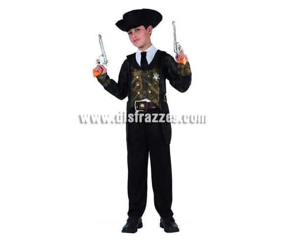 Disfraz de Vaquero Sheriff para niños de 10 a 12 años. Pistolas NO incluidas, podrás verlas en la sección de Complementos.