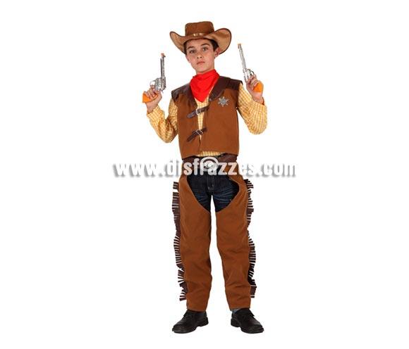 Disfraz de Vaquero o Pistolero para niños de 5 a 6 años. Pistolas NO incluidas, podrás verlas en la sección de Complementos.
