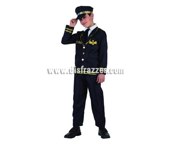 Disfraz de Aviador o Piloto de avión para niños de 5 a 6 años. Incluye traje completo. Zapatos NO incluidos.