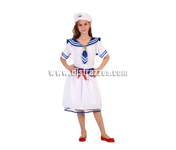 Disfraz de Marinera para niñas de 3 a 4 años. Incluye vestido y gorro.