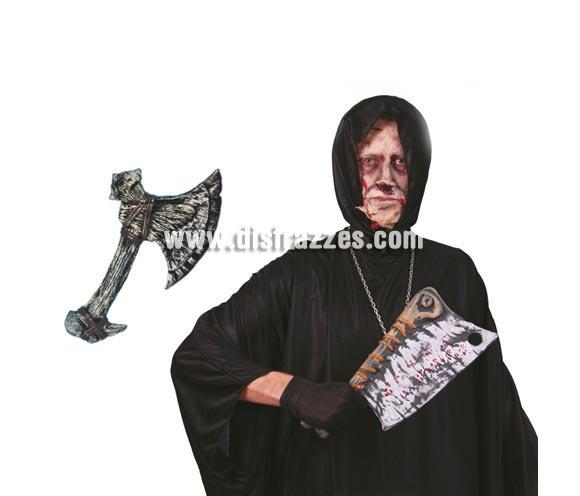 Hacha de Bárbaro o de miedo para Halloween. 2 modelos surtidos de 34 cms.
