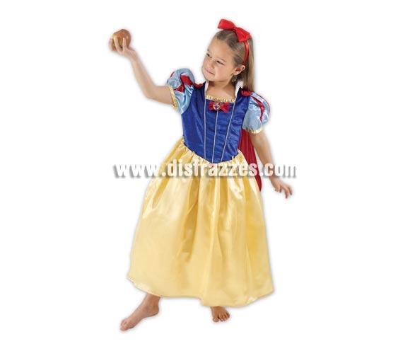 Disfraz de Blancanieves. Talla de 7 a 8 años. Incluye diadema y vestido con capa. Disfraz con licencia Disney ideal para regalar. Éste disfraz es ideal para Carnaval y para regalar en Navidad, en Reyes Magos, para un Cumpleaños o en cualquier ocasión del año. Con éste disfraz harás un regalo diferente y que seguro que a los peques les encantará y hará que desarrollen su imaginación y que jueguen haciendo valer su fantasía.  ¡¡Compra tu disfraz para Carnaval o para regalar en Navidad o en Reyes Magos en nuestra tienda de disfraces, será divertido!!