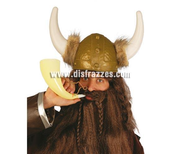 Cuerno de Vikingo de 24 cm. ¡¡Compra tu complemento para el disfraz de Carnaval en nuestra tienda de disfraces, será divertido!!