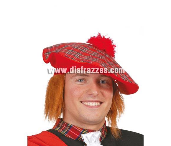 Sombrero Escocés con pelo barato para Carnavales. Perfecto para Despedidas de Soltero.
