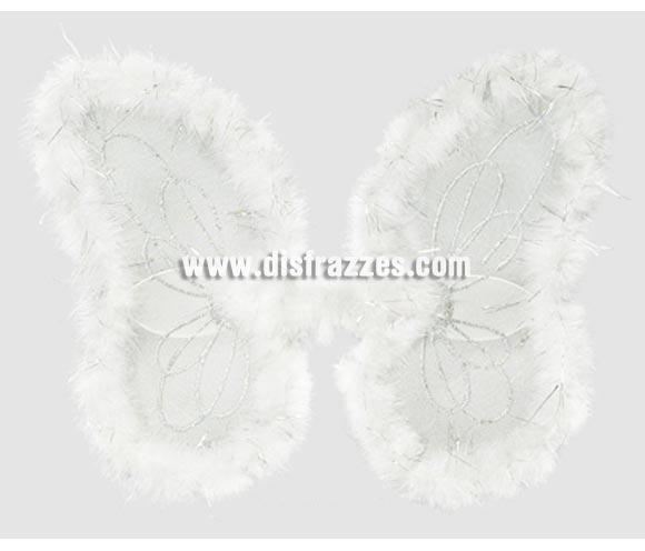 Alas de Ángel marabú blancas de 50x40 cm.
